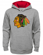 "Chicago Blackhawks Youth NHL ""Prime Logo"" Pullover Hooded Sweatshirt - Gray"