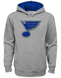 "St. Louis Blues Youth NHL ""Prime Logo"" Pullover Hooded Sweatshirt - Gray"