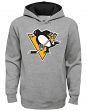 """Pittsburgh Penguins Youth NHL """"Prime Logo"""" Pullover Hooded Sweatshirt - Gray"""