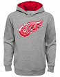 "Detroit Red Wings Youth NHL ""Prime Logo"" Pullover Hooded Sweatshirt - Gray"