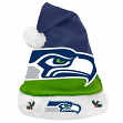 Seattle Seahawks 2018 NFL Basic Logo Plush Christmas Santa Hat