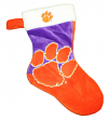 Clemson Tigers 2018 NCAA Basic Logo Plush Christmas Stocking