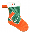 Miami Hurricanes 2018 NCAA Basic Logo Plush Christmas Stocking