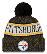 Pittsburgh Steelers New Era 2018 NFL Sideline On Field Sport Knit Hat - Black