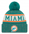 "Miami Dolphins New Era 2018 NFL Sideline On Field ""Historic"" Sport Knit Hat"