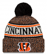 Cincinnati Bengals New Era 2018 NFL Sideline On Field Sport Knit Hat - Orange