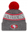 "San Francisco 49ers New Era 2018 NFL ""Sport Knit"" Cuffed Hat with Pom - Graphite"