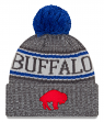"Buffalo Bills New Era 2018 NFL Historic ""Sport Knit"" Cuffed Hat - Graphite"
