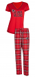 "Atlanta Falcons NFL ""Super Duo"" Women's T-shirt & Flannel Pants Sleep Set"