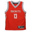 James Harden Houston Rockets Kids 4-7 NBA Replica Jersey - Red