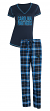 "Carolina Panthers NFL ""Super Duo"" Women's T-shirt & Flannel Pants Sleep Set"