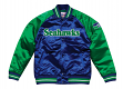 "Seattle Seahawks Mitchell & Ness NFL ""Tough Season"" Premium Satin Jacket"