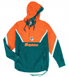 "Miami Dolphins Mitchell & Ness NFL Men's ""Anorak"" 1/2 Zip Pullover Jacket"