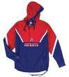 "New England Patriots Mitchell & Ness NFL Men's ""Anorak"" 1/2 Zip Pullover Jacket"