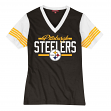 Pittsburgh Steelers Women's Mitchell & Ness NFL MVP V-neck Short Sleeve T-shirt