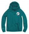 "Miami Dolphins Women's Mitchell & Ness NFL ""Offsides"" Funnel Neck Sweatshirt"