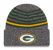 "Green Bay Packers New Era NFL ""Stripe Strong"" Cuffed Knit Hat"