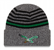 "Philadelphia Eagles New Era NFL Historic ""Stripe Strong"" Cuffed Knit Hat"
