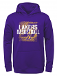 "Los Angeles Lakers Youth NBA ""Attitude"" Pullover Hooded Performance Sweatshirt"