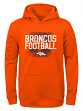 "Denver Broncos Youth NFL ""Attitude"" Pullover Hooded Performance Sweatshirt"