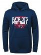 "New England Patriots Youth NFL ""Attitude"" Pullover Hooded Performance Sweatshirt"