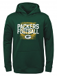 "Green Bay Packers Youth NFL ""Attitude"" Pullover Hooded Performance Sweatshirt"