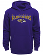 "Baltimore Ravens Youth NFL ""Fadeout"" Pullover Hooded Sweatshirt"
