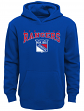 "New York Rangers Youth NHL ""Fadeout"" Pullover Hooded Sweatshirt"