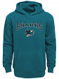 "San Jose Sharks Youth NHL ""Fadeout"" Pullover Hooded Sweatshirt"
