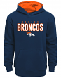 """Denver Broncos Youth NFL """"Extra Point"""" Pullover Hooded Sweatshirt"""