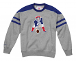 "New England Patriots Mitchell & Ness NFL ""Post Season Run"" Men's Crew Sweatshirt"