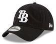"Tampa Bay Rays New Era MLB 9Twenty ""Core Classic Twill"" Adjustable Black Hat"