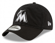"Miami Marlins New Era MLB 9Twenty ""Core Classic Twill"" Adjustable Black Hat"