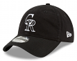 "Colorado Rockies New Era MLB 9Twenty ""Core Classic Twill"" Adjustable Black Hat"