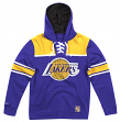 """Los Angeles Lakers Mitchell & Ness NBA """"Skate Lace"""" Pullover Hooded Sweatshirt"""