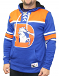 """Denver Broncos Mitchell & Ness NFL """"Skate Lace"""" Pullover Hooded Sweatshirt"""