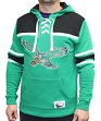 "Philadelphia Eagles Mitchell & Ness NFL ""Skate Lace"" Pullover Hooded Sweatshirt"
