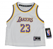 Lebron James Los Angeles Lakers Toddler NBA Replica Jersey - White