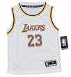 Lebron James Los Angeles Lakers Kids 4-7 NBA Replica Jersey - White