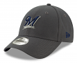 """Milwaukee Brewers New Era 9Forty MLB """"The League Graphite"""" Adjustable Hat"""