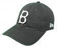 Brooklyn Dodgers New Era Cooperstown Twill Core Classic Adjustable Black Hat