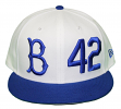 "Brooklyn Dodgers New Era 9FIFTY MLB Cooperstown ""Jackie Robinson"" Hat - White"