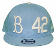 "Brooklyn Dodgers New Era 9FIFTY MLB Cooperstown ""Jackie Robinson"" Hat - Sky Blue"