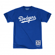 "Los Angeles Dodgers Mitchell & Ness MLB Men's ""Pushed Logo"" Short Sleeve T-Shirt"