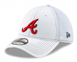 "Atlanta Braves New Era MLB 39THIRTY ""White Team Neo"" Flex Fit Hat"