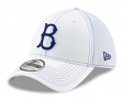 "Brooklyn Dodgers New Era 39THIRTY ""Cooperstown White Team Neo"" Flex Fit Hat"