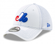 """Montreal Expos New Era 39THIRTY """"Cooperstown White Team Neo"""" Flex Fit Hat"""