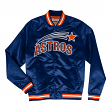 "Houston Astros Mitchell & Ness MLB Men's ""Big Time"" Lightweight Satin Jacket"