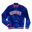 "Philadelphia 76ers Mitchell & Ness NBA Men's ""Big Time"" Lightweight Satin Jacket"
