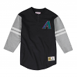 Arizona Diamondbacks Mitchell & Ness MLB Men's Team Logo 3/4 Sleeve Henley Shirt